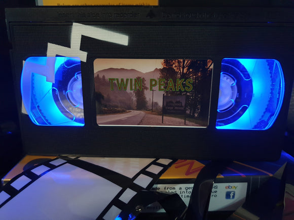 Twin Peaks Retro VHS Lamp with Art Work