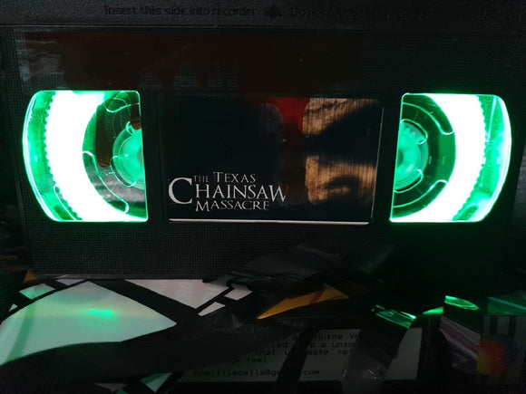 Texas Chainsaw Massacre 2003 Retro VHS Lamp