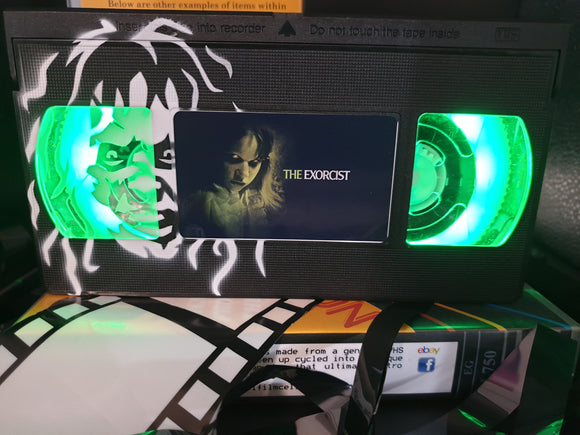 The Exorcist Retro VHS Lamp With Art Work