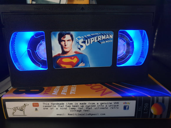 Superman The Movie Retro VHS Lamp