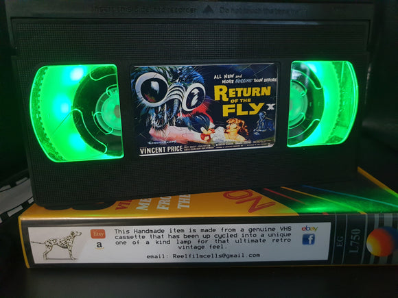 Return of the Fly Retro VHS Lamp
