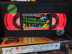 The Curse of Frankenstein Retro VHS Lamp