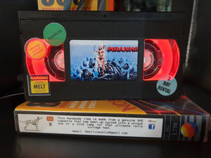 Piranha Horror Retro VHS Lamp