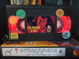 Eyes Without a Face Retro VHS Lamp