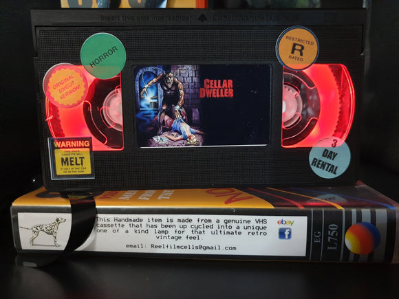 Cellar Dweller Retro VHS Lamp