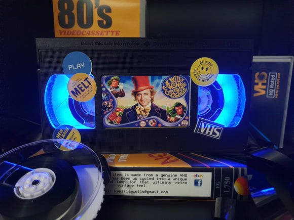 Charlie and the Chocolate Factory Retro VHS Lamp