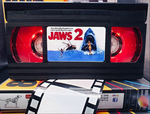 Jaws 2 Retro VHS Lamp