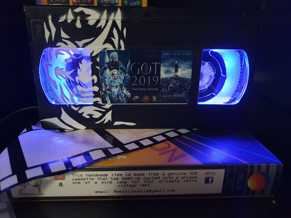 Game of Thrones Retro VHS Lamp with Art Work