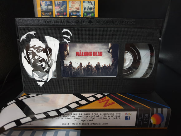 The Walking Dead Retro VHS Lamp with Negan Art Work