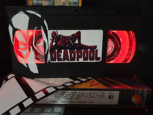 Deadpool Retro VHS Lamp with  Artwork