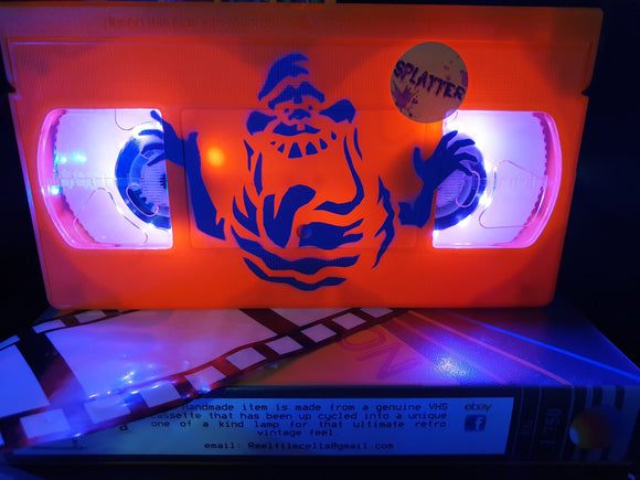 Ghostbusters Slimer Retro VHS Lamp  with Art Work LTD Edition