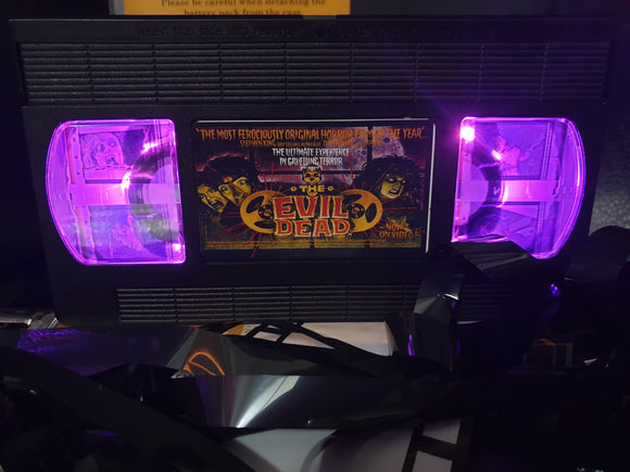 The Evil Dead Set Retro VHS Lamp with 4 Original Film Cells