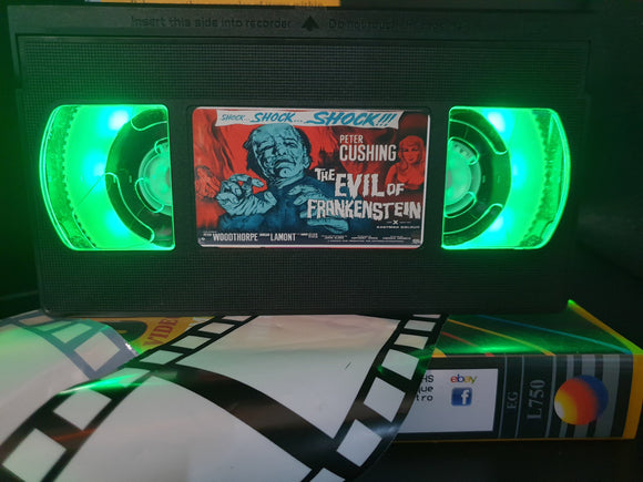 The Evil of Frankenstein Retro VHS Lamp