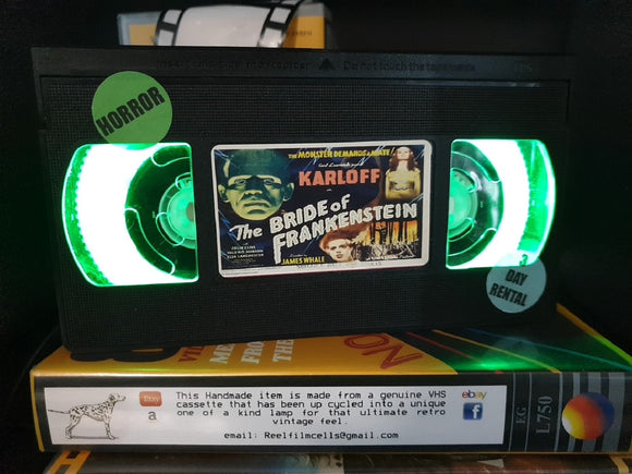 Bride of Frankenstein Retro VHS Lamp
