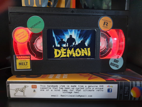Demons Retro VHS Lamp
