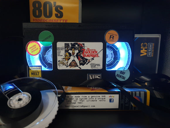 The Legend of the 7 Golden Vampires Retro VHS Lamp