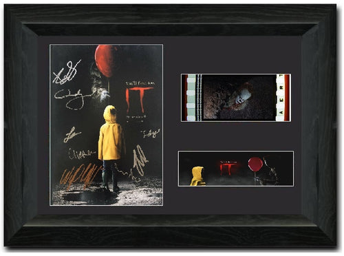 IT Pennywise 2017 35 mm Cast Signed Film cell Display Clown