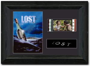LOST 35mm Framed Film Cell Display Signed