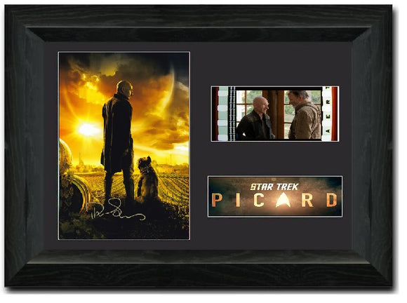 Start Trek - Picard 35mm Framed Film Cell Display Signed