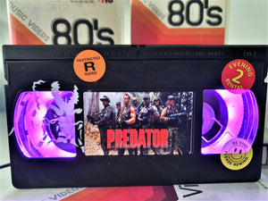 Predator Comic Retro VHS Lamp With Art Work