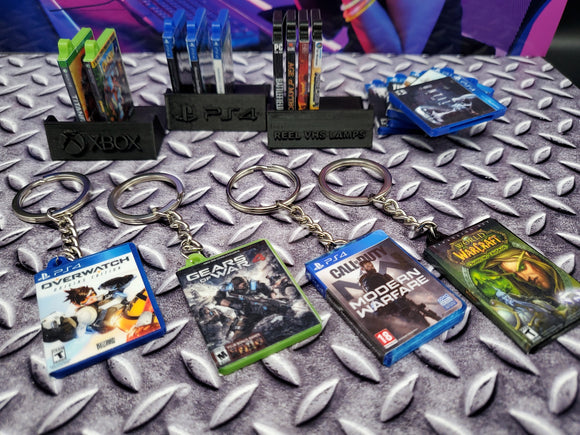 Mini Game Case Keyring Display Stand (PS4 or Xbox One)
