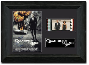 Quantum Of Solace 35mm Framed Film Cell Display Cast Signed