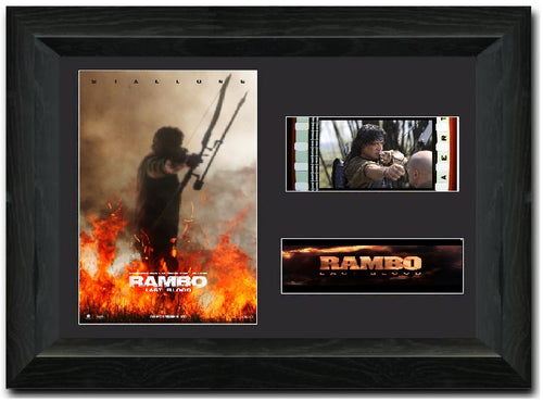Rambo Last Blood 35 mm Film cell Display Sylvester Stallone