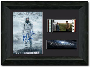 Interstellar 35mm Framed Film Cell Display Signed