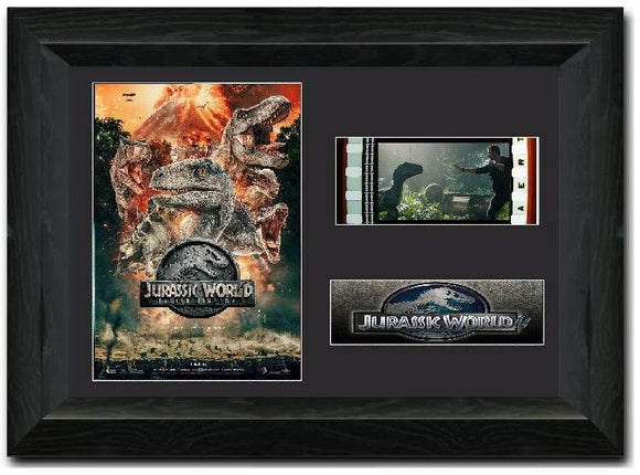 Jurassic World Fallen Kingdom S1 35mm Framed Film Cell Display