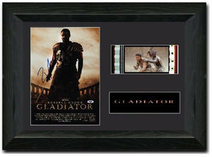 Gladiator 35mm Framed Film Cell Display Signed