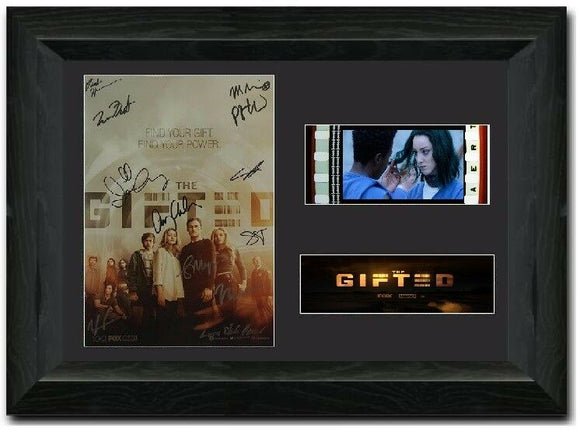The Gifted 35mm Framed Film Cell Display Signed
