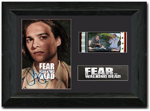 Fear the Walking Dead 35mm Framed Film Cell Display Signed - Nick Clark Frank
