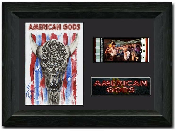 American Gods 35mm Framed Film Cell Display Signed