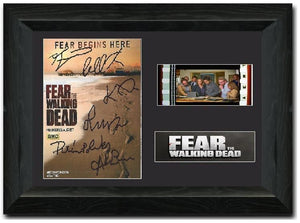 Fear the Walking Dead 35mm Framed Film Cell Display Cast Signed