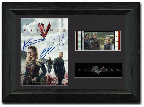 Vikings 35mm Framed Film Cell Display Signed