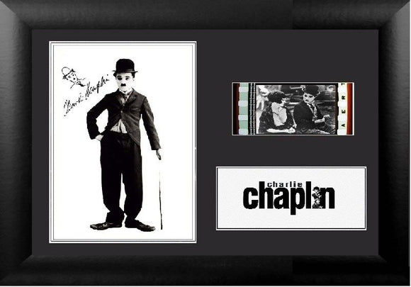 Charlie Chaplin 35mm Framed Film Cell Display Signed