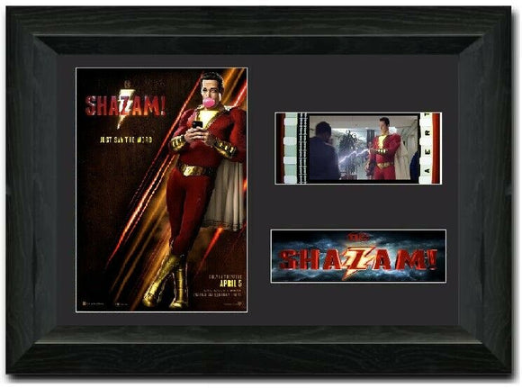Shazam 35mm Framed Film Cell Display