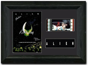 Alien  35mm Framed Film Cell Display Signed