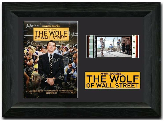 The Wolf of Wall Street 35mm Framed Film Cell Display Signed