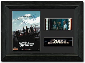 Fast & Furious 6 S2 35mm Framed Film Cell Display Signed