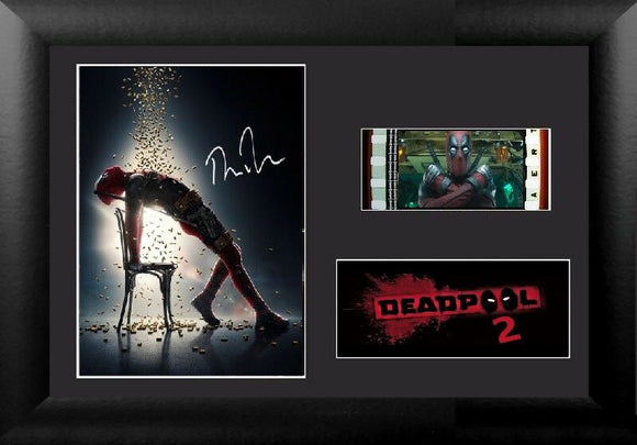 Deadpool 2 35mm Framed Film Cell Display Signed