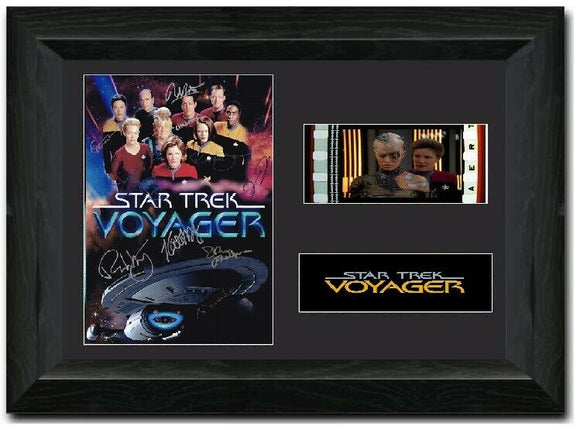 Star Trek: Voyager 35mm Framed Film Cell Display Cast Signed