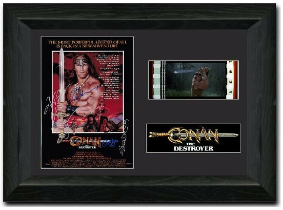 Conan the Destroyer35mm Framed Film Cell Display Singed
