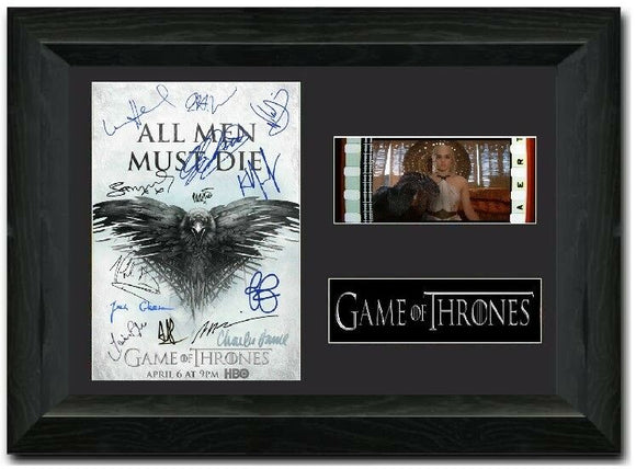 Game Of Thrones 35mm Framed Film Cell Display Cast Siged
