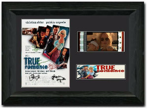 True Romance 35mm Framed Film Cell Display Signed