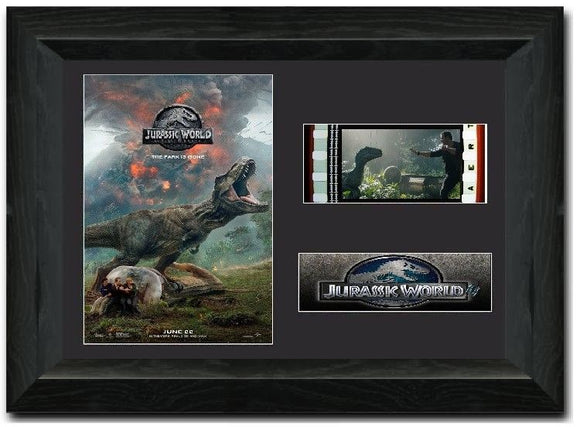 Jurassic World Fallen Kingdom S3 35mm Framed Film Cell Display