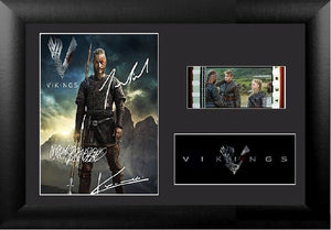 Vikings 35 mm Film Cell Display FRAMED Stunning Collectable Signed