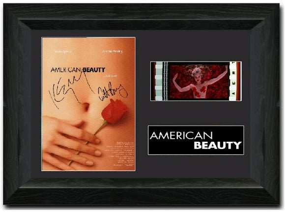 American Beauty 35mm Framed Film Cell Display Signed