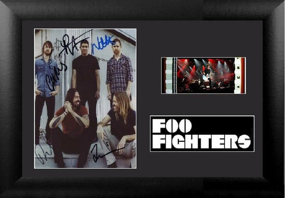 The Foo Fighters 35mm Framed Film Cell Display Signed