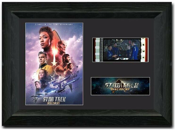 Star Trek: Discovery 35mm Framed Film Cell Display Cast Signed